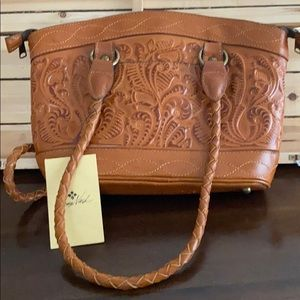 PATRICIA NASH Zorita Tooled Leather Satchel NWT!